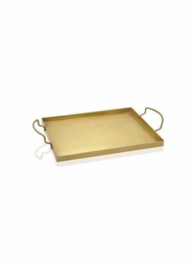 The Mia Tepsi Gold Kaplama 30 x 19 Cm Altın